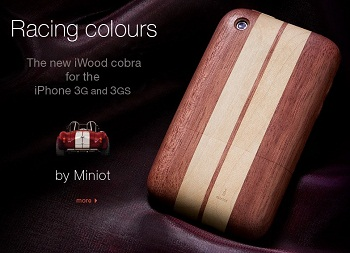 Miniot iWood Cobra per iPhone 3GS