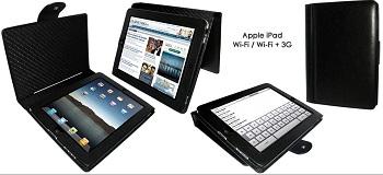 Piel Frama Snap Closure per iPad