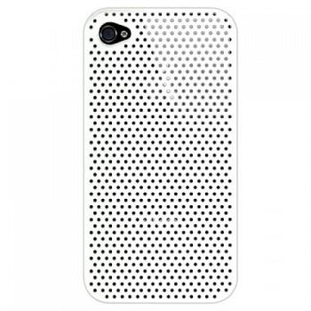 DefaultCase Perforated Case White per iPhone 4