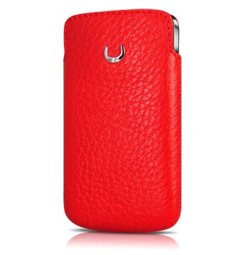 BeyzaCases Retro Slim Vertical Case Flo Red