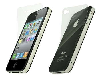 Power Support HD Front and Back Film Set per iPhone 4
