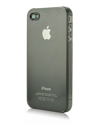 Power Support Clear Black Air Jacket per iPhone 4