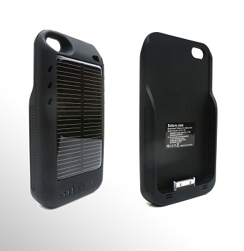 Mooncharge Hybrid Solar Battery Case per iPhone 4