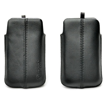 Celly Muvit iSoft Leather Pouch per iPhone 4