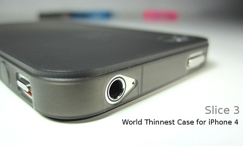 Custodia Pinlo Slice3 Black per iPhone 4