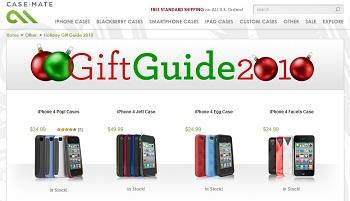 Case-Mate Gift Guide 2010 Sconto 30%