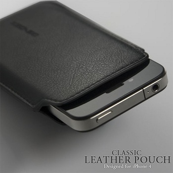 ZZCASE iPhone Classic Leather Pouch Black