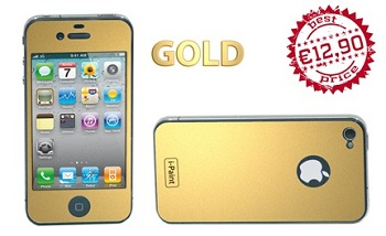Pellicola Skin i-Paint Gold per iPhone 4