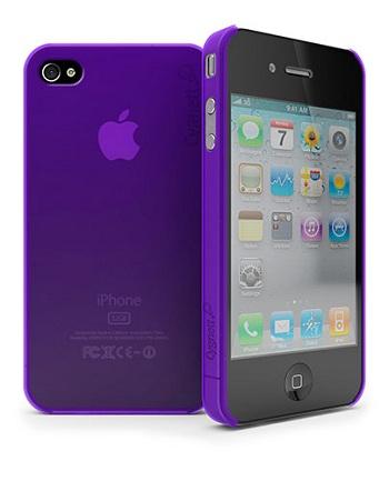 Cygnett Frost Matte Slim Case Purple per iPhone 4