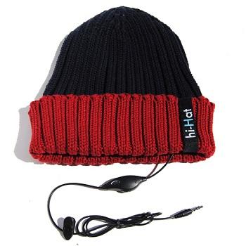 Cappellino Hi-Hat con cuffie e microfono Hi-Fun