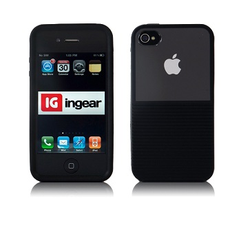 Ingear Polarize Black Shell per iPhone 4