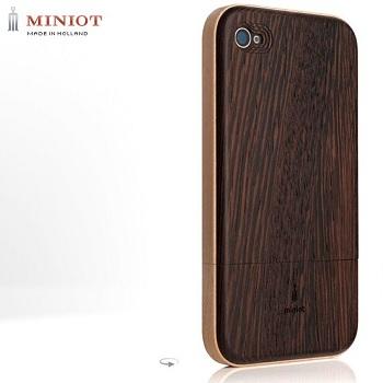 Miniot iWood 4 Contour Wenge/Maple per iPhone 4