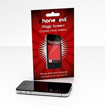 PhoneDevil Crystal Clear Screen Protector per iPhone 4