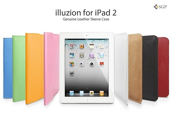 SGP Illuzion Leather Sleeve Case per iPad 2 (e iPad prima serie)