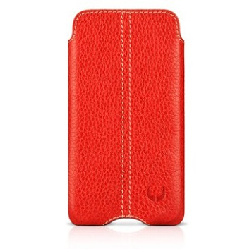 BeyzaCases Zero Series Red Leather per iPhone 4
