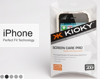 Applicatore pellicole Kioky Perfect Fit per iPhone 4 e 3G/3GS