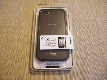 SGP Linear Crystal Series (Smooth Black) per iPhone 4