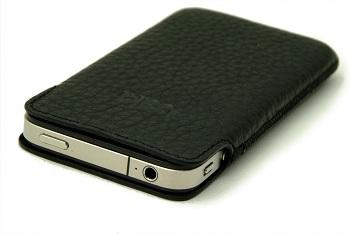 Bella Cases Slim Fit (Black Leather) per iPhone 4