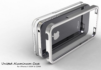 Pinlo United Aluminum Case (Black) per iPhone 4