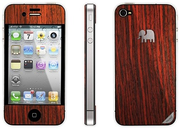 Skin Trunket American Rosewoord (Blood Red) per iPhone 4S