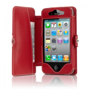 BeyzaCases Folio Series (Rossa) per iPhone 4S