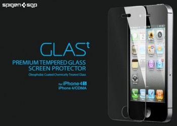 Pellicola in vetro temperato SGP GLAS.t per iPhone 4 e 4S