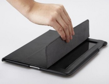 GGMM Black Genuine Leather Case per iPad