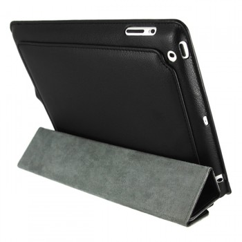 Mivizu Sense Black Leather Case per iPad 2