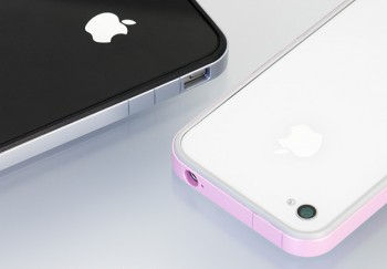 Power Support (Pawasapo) Flat Bumper per iPhone 4S