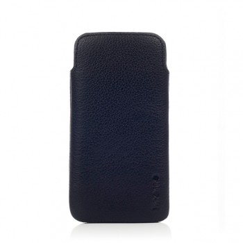 Knomo Black Leather Slim per iPhone 5