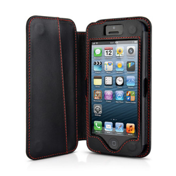 BeyzaCases Folio Serie (Black) per iPhone 5