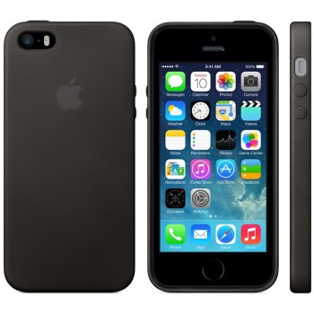 Apple Case (pelle nera) iPhone 5 e 5S