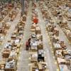 Panorama di uno dei magazzini spedizioni Amazon UK